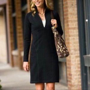 Athleta Cassidy Ponte Knit Dress Black SP